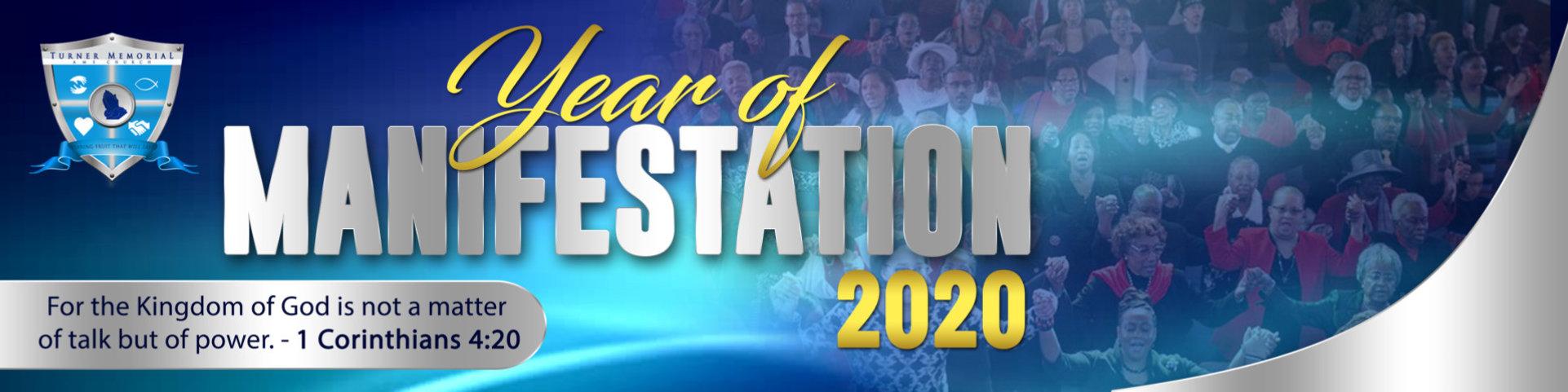 Year of Manifestation 2020 Banner