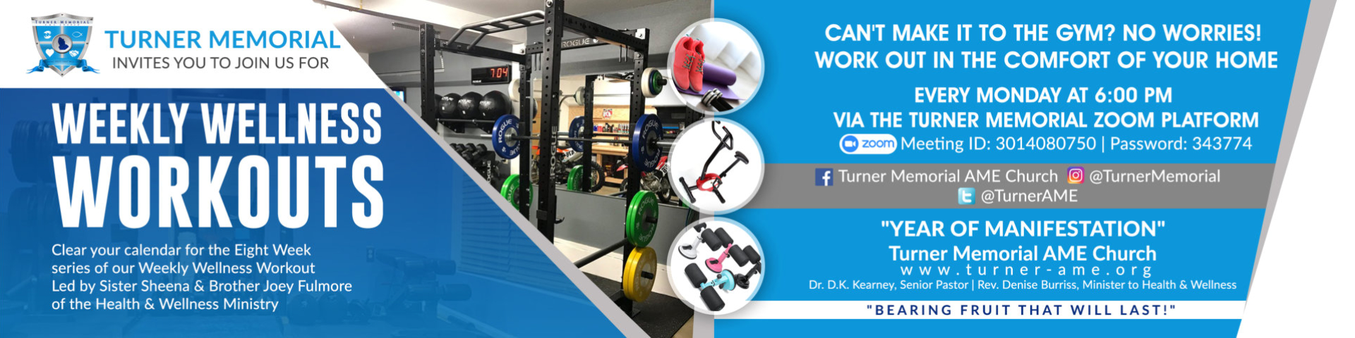 Weekly Wellness Workouts Banner