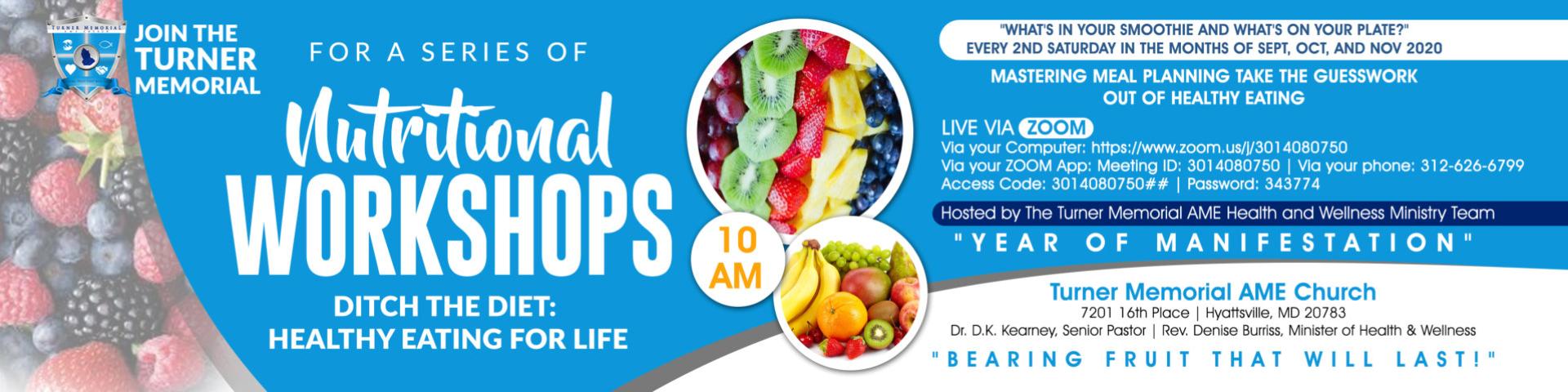 Nutritional Workshops Banner